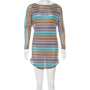 MISSONI MARE Patterned Knit Tunic Coverup